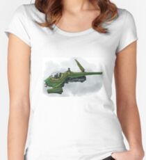 Singleship in atmosphere Women's Fitted Scoop T-Shirt
