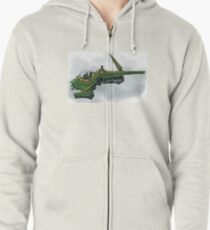 Singleship in atmosphere Zipped Hoodie
