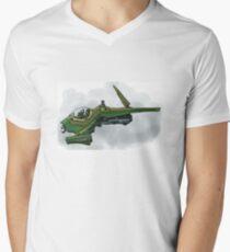 Singleship in atmosphere Men's V-Neck T-Shirt