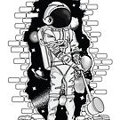 Astronaut on the loose by Little Monster