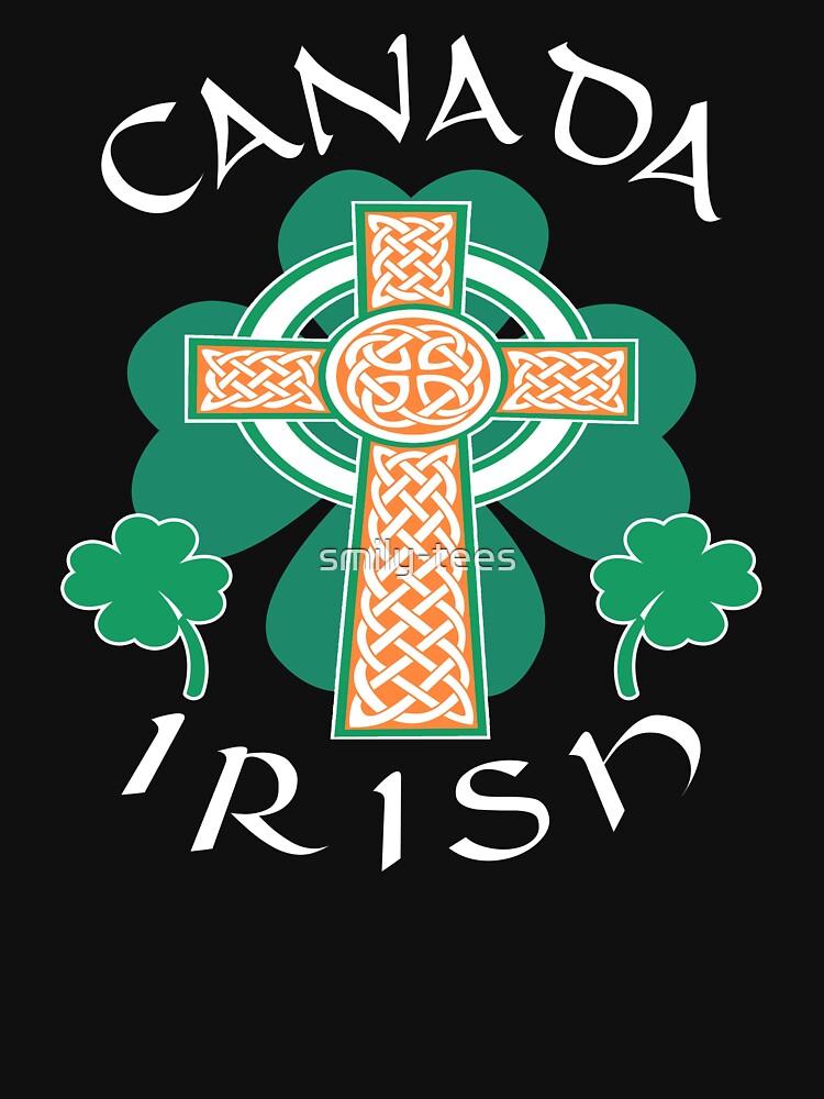 Canada Canadian Irish Pride Celtic Cross Saint Patrick by smily-tees