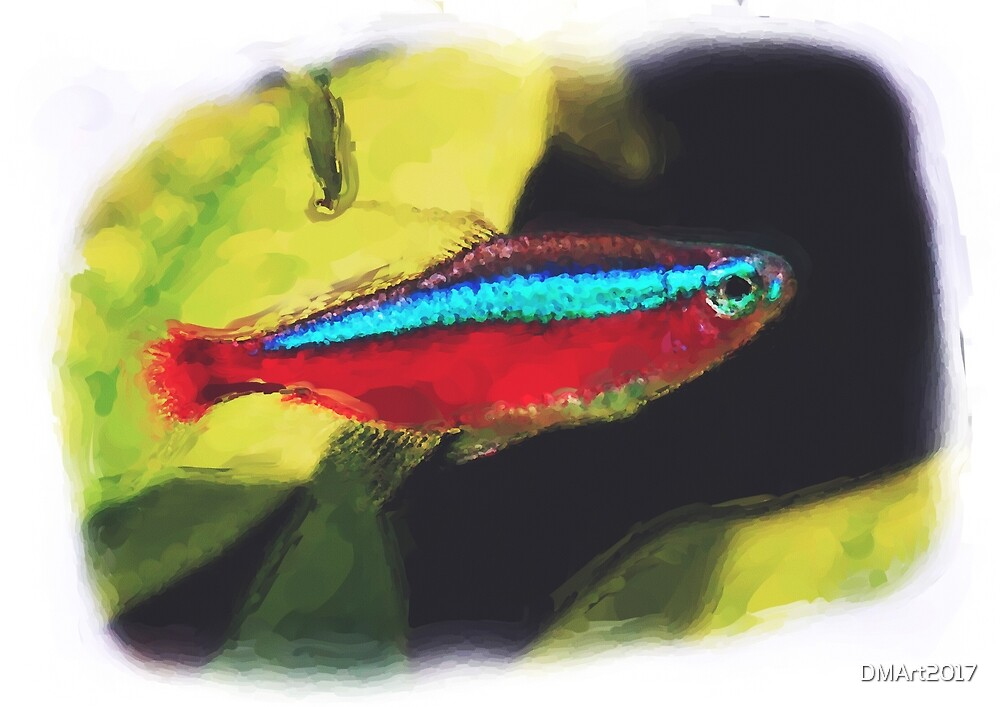 Cardinal Tetra digital watercolour by DMArt2017