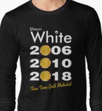Shaun White Three Time Gold Medalist Long Sleeve T-Shirt