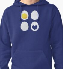 Eggs and hearts Pullover Hoodie