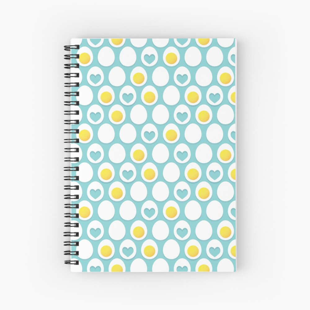 Eggs and hearts Spiral Notebook
