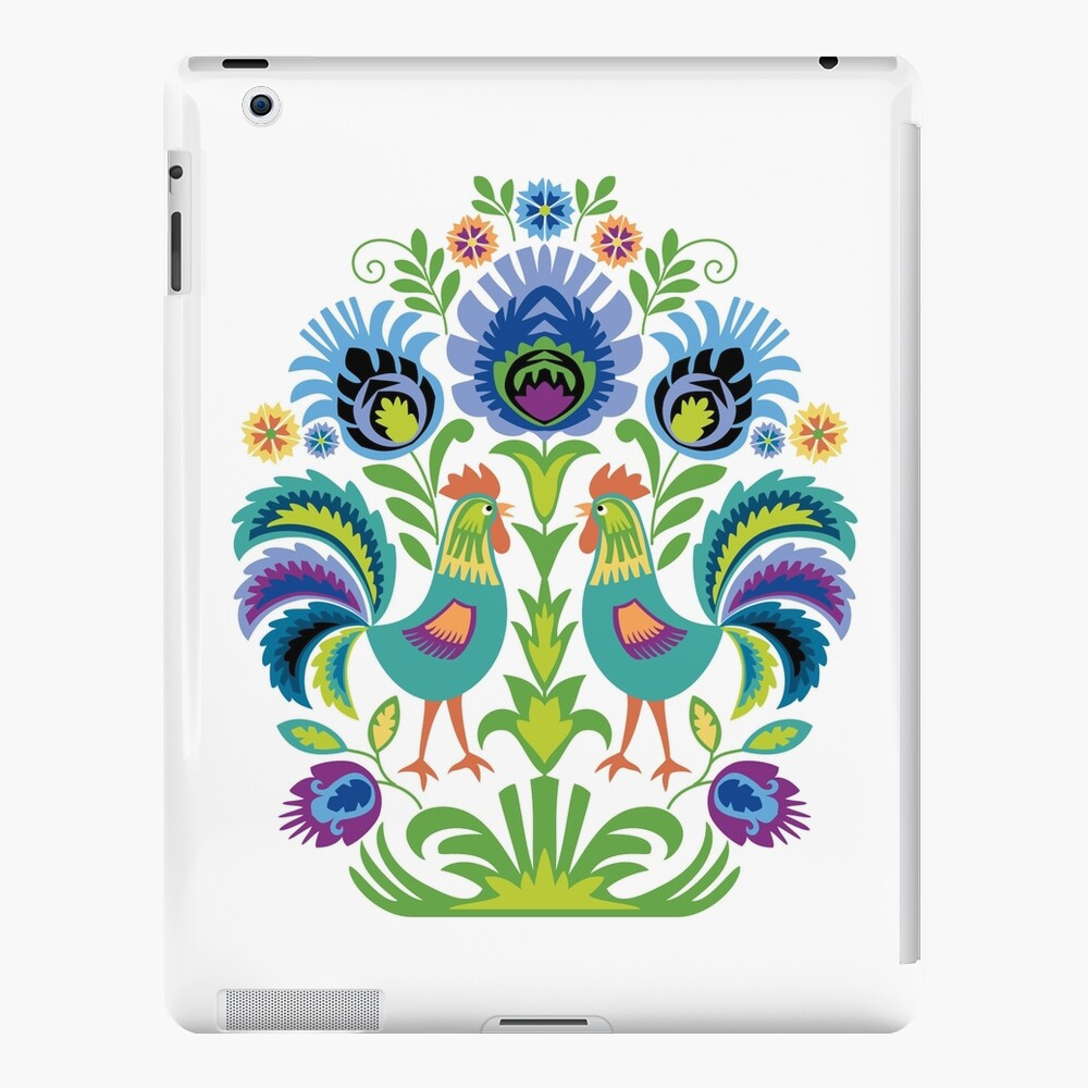 Polish Folk Design Two Roosters iPad Case & Skin