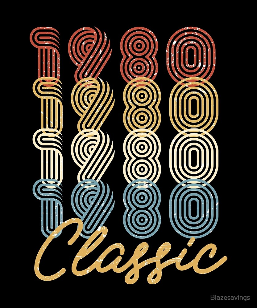 38th Birthday Gift Vintage 1980 Retro Classic BDay Present by Blazesavings