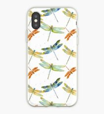Watercolor Dragonfly Bliss  iPhone Case
