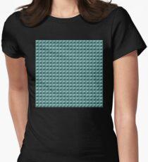 3D Pyramids green-blue Women's Fitted T-Shirt