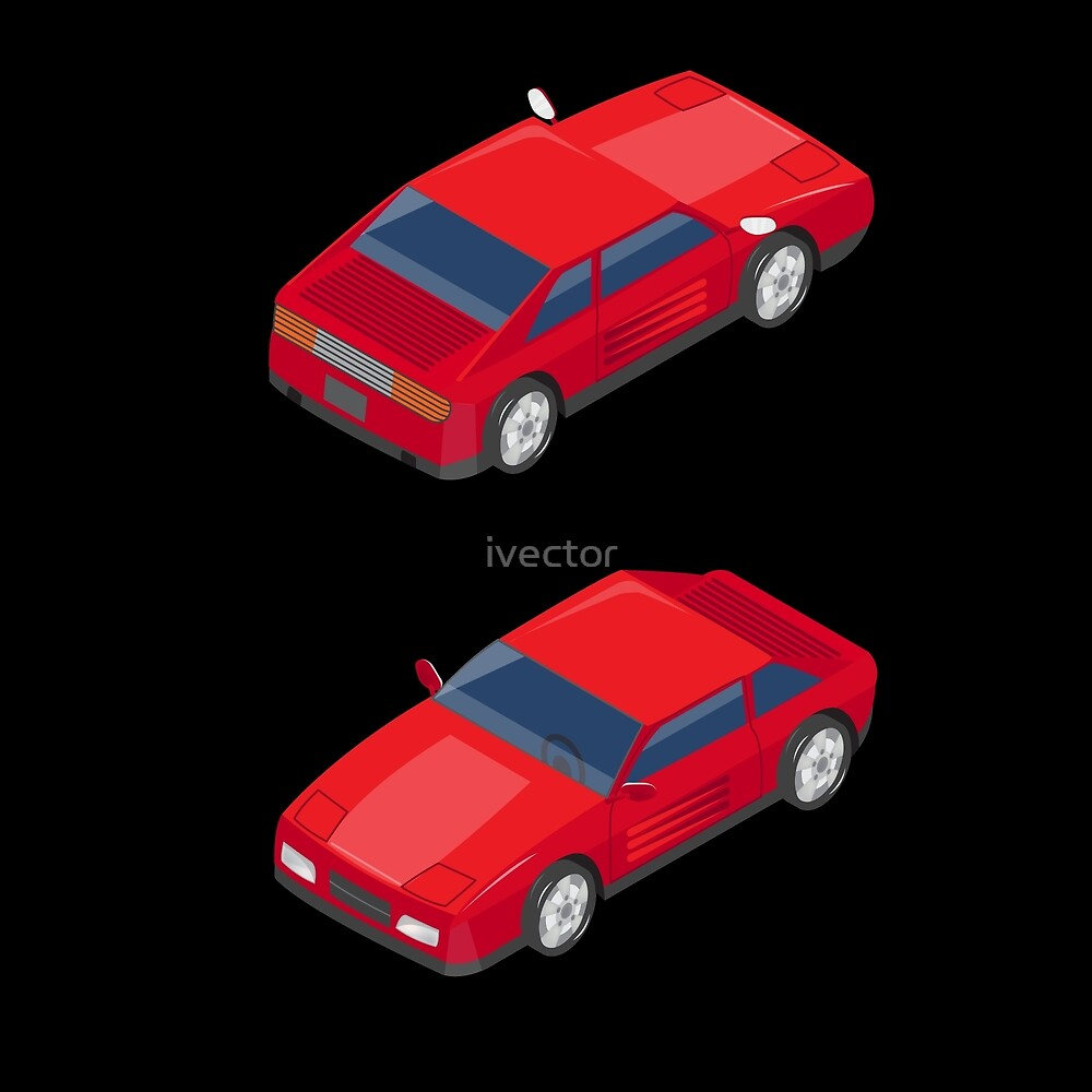 Isometric Transportation. Sport Car. Isometric Car. by ivector