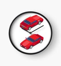 Isometric Transportation. Sport Car. Isometric Car. Clock