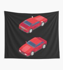 Isometric Transportation. Sport Car. Isometric Car. Wall Tapestry