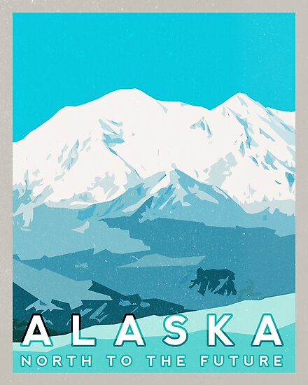 Alaska Mountains Retro by typelab