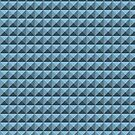 3D Pyramids grey-blue by Graphic-T
