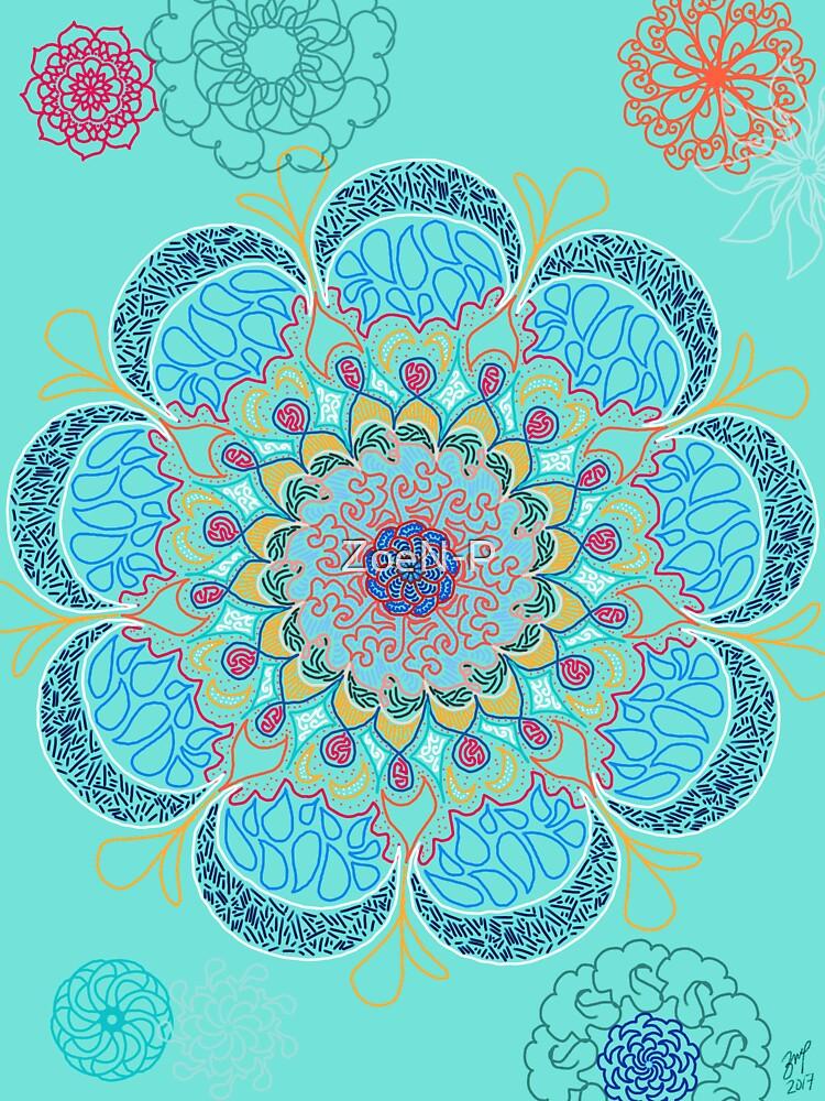Blooming (Teal) by ZoeN-P