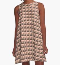3D Pyramids light orange A-Line Dress