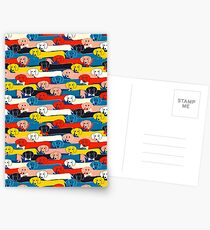 COLORED CUTE DOGS PATTERN 2 Postcards