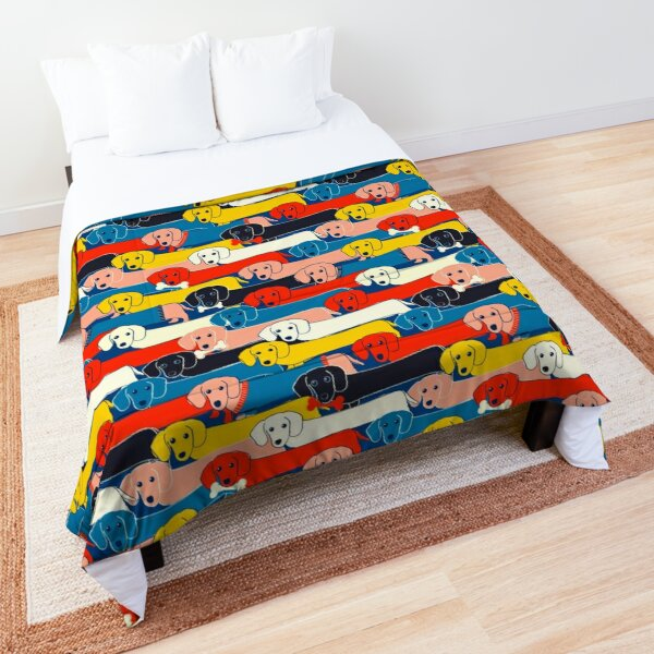 COLORED CUTE DOGS PATTERN 2 Comforter