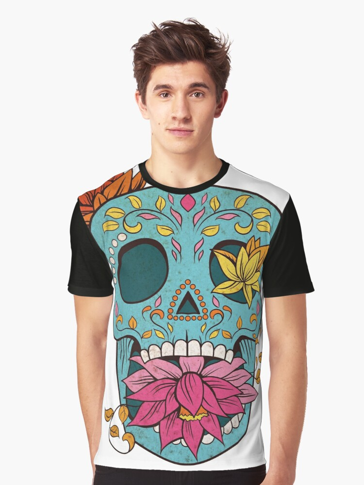 Sugar Skull T-Shirt Graphic T-Shirt Front