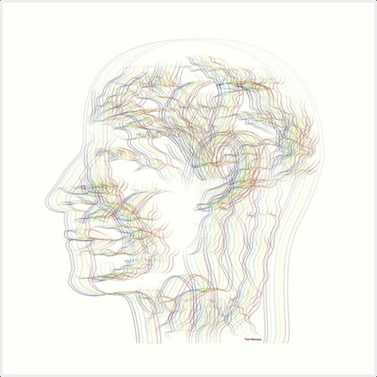 The digital drawing of human nervous system by Yadkovskaya