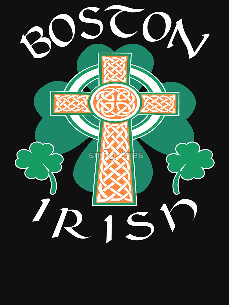 Boston American Irish Pride Celtic Cross Saint Patrick by smily-tees
