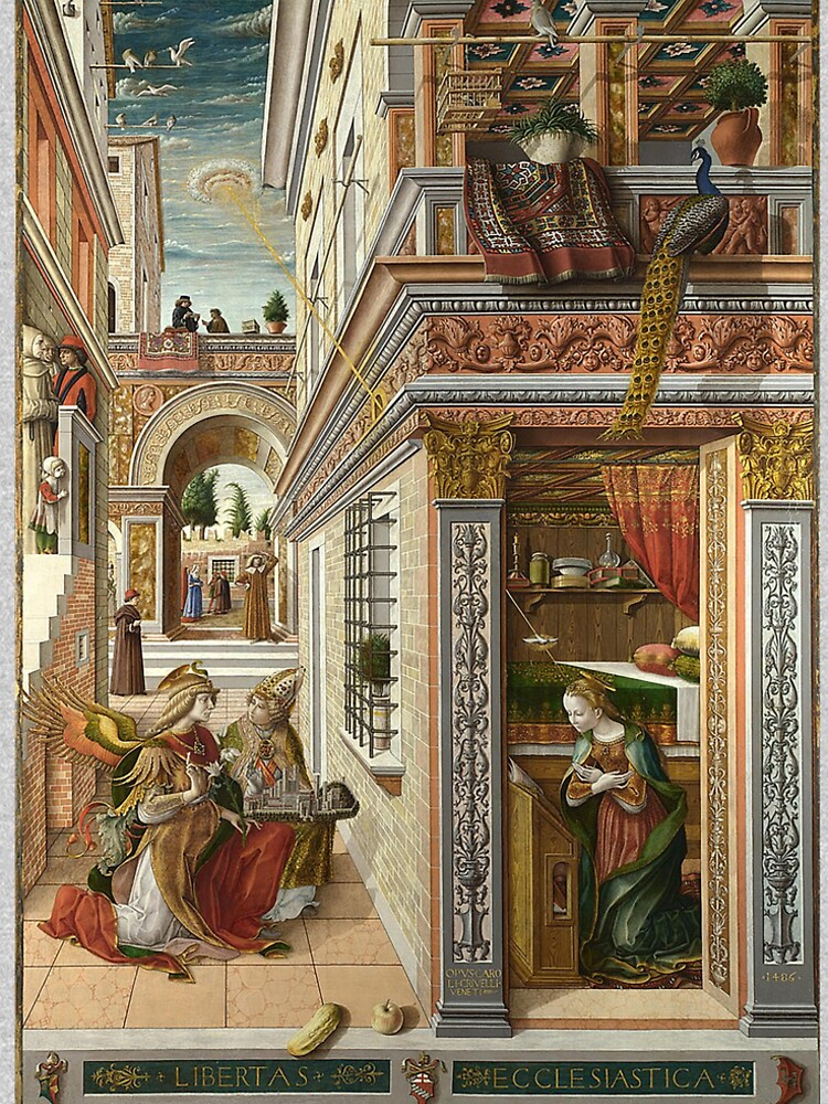 UFOs, in Ancient Art, The Annunciation With Saint Emidus, 1486 by TOMSREDBUBBLE
