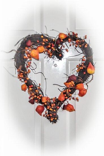 Pretty Door Heart Decoration....... by lynn carter