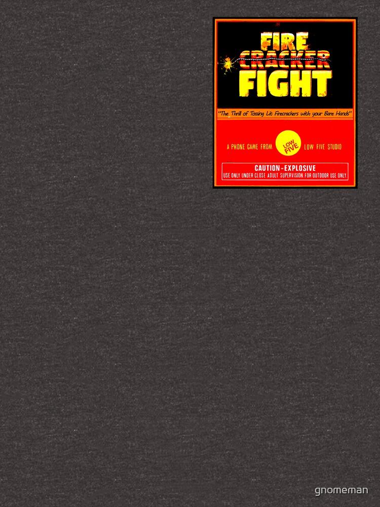 Official Firecracker Fight game shirt by gnomeman