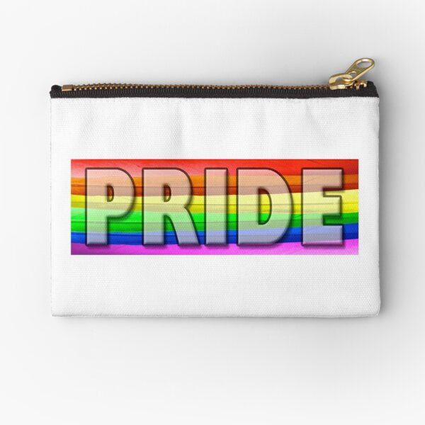 Rainbow Feather Pride Zipper Pouch