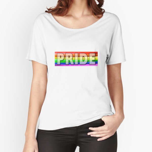 Rainbow Feather Pride Relaxed Fit T-Shirt