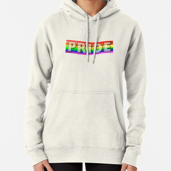 Rainbow Feather Pride Pullover Hoodie