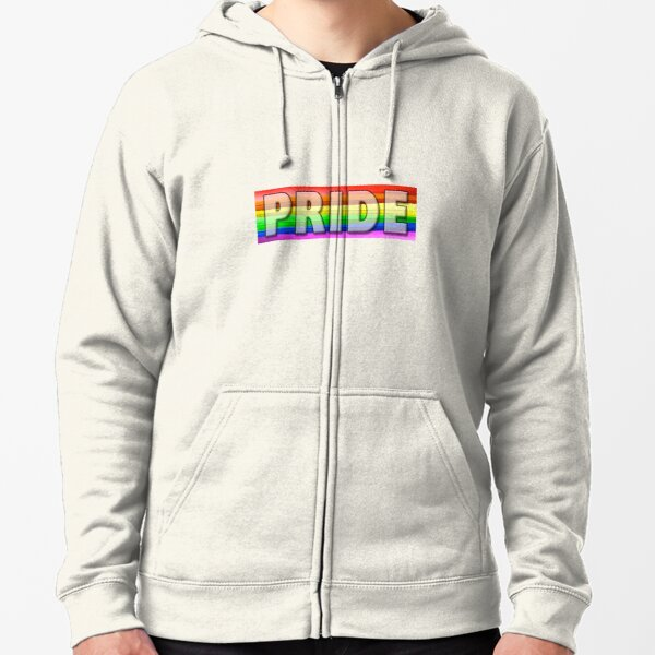 Rainbow Feather Pride Zipped Hoodie
