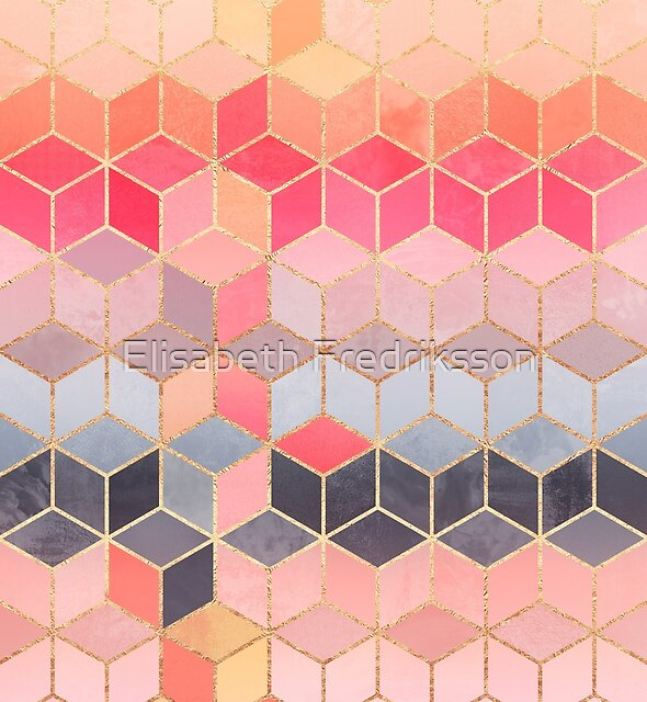 « Cubes heureux » par Elisabeth Fredriksson