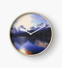 One day at the lake Clock