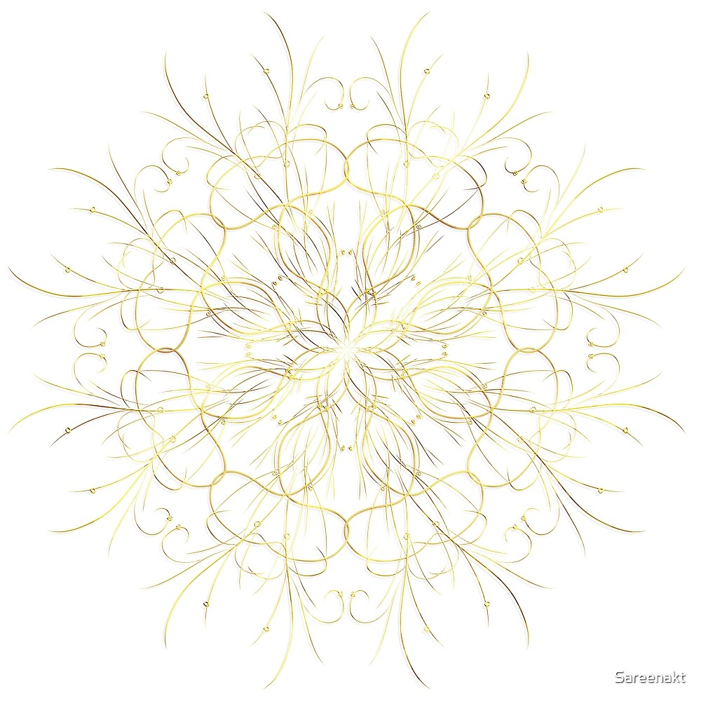 Filigree Gold & White by Sareenakt