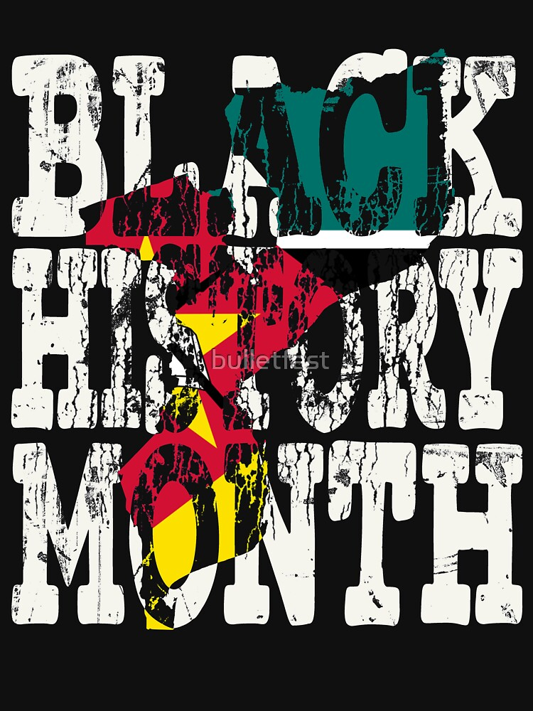 Black History Month Melanin Poppin' Mozambican Flag Shape African Black Pride Mozambique Maputo Flag by bulletfast
