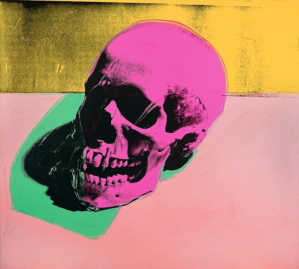 Andy Warhol Skull Print pop art\