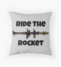 Ride the Rocket Throw Pillow