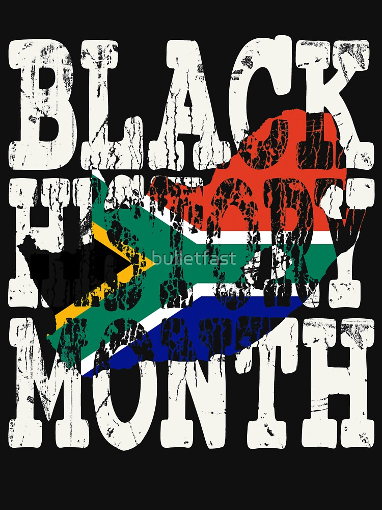 Black History Month Melanin Poppin' South African Flag Shape African Black Pride South Africa Pretoria Flag by bulletfast