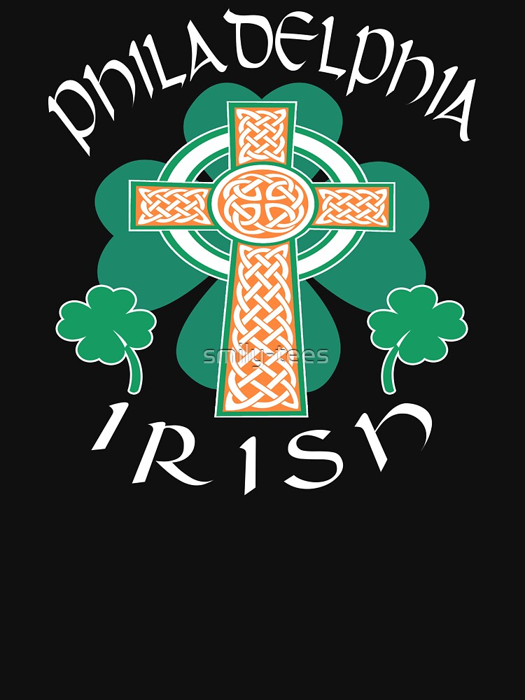 Philadelphia American Irish Pride Celtic Cross Saint Patrick by smily-tees