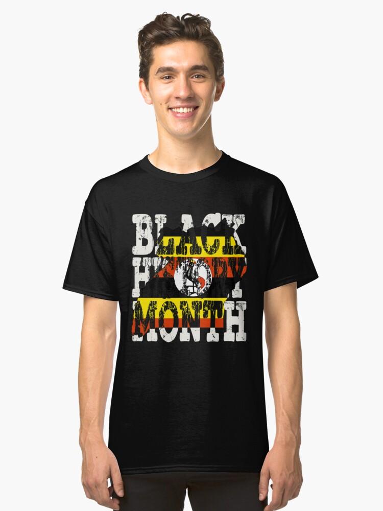 Black History Month Melanin Poppin' Ugandan Flag Shape African Black Pride Uganda Kampala Flag Classic T-Shirt Front