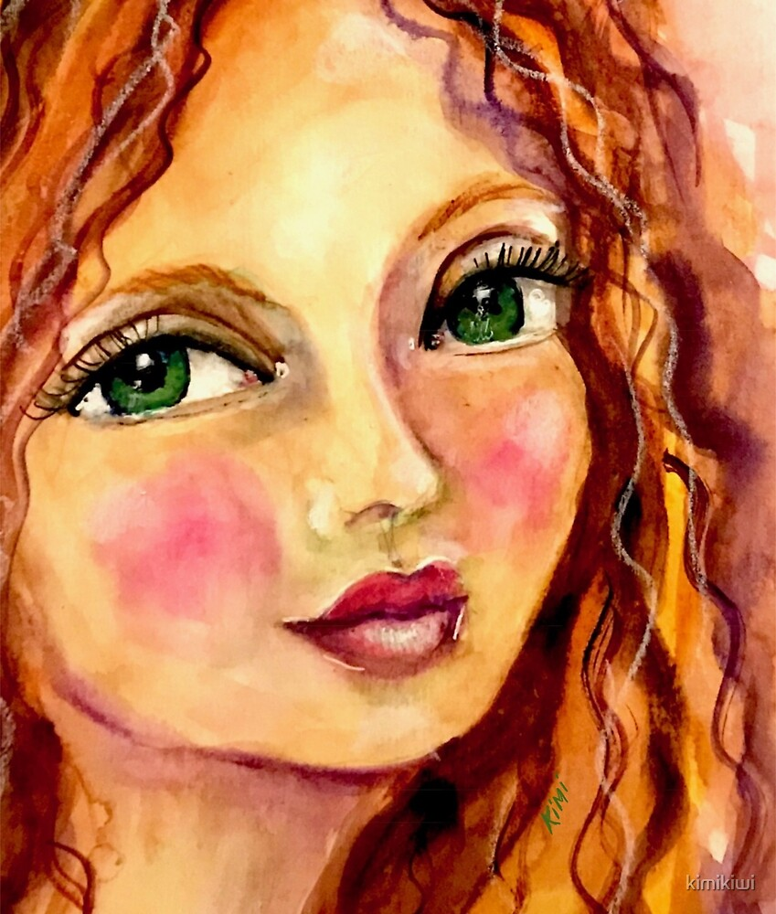 Watercolor Girl by kimikiwi