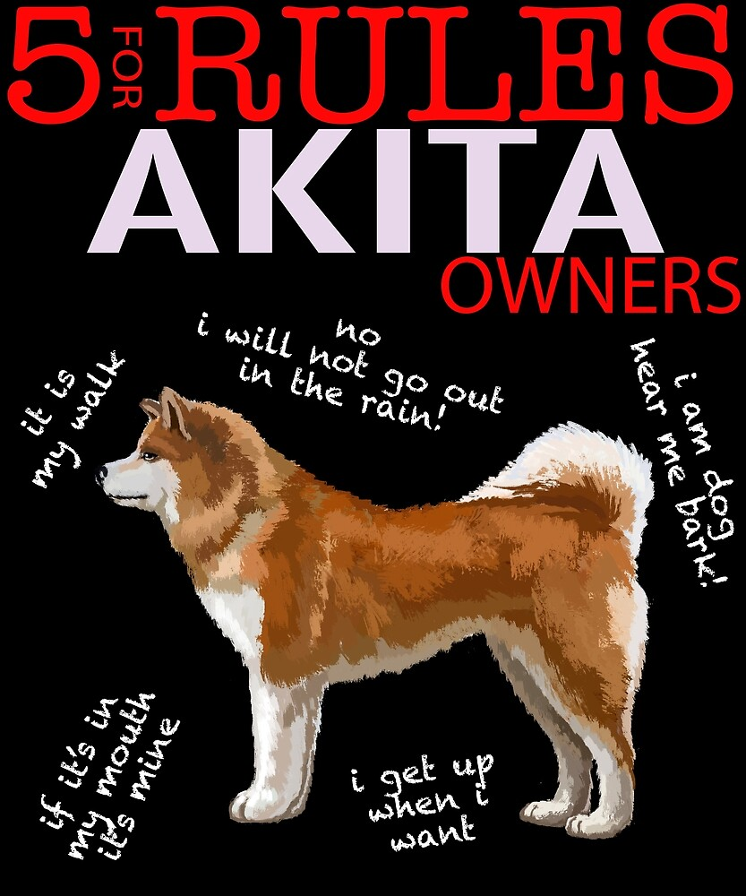 5 Rules for Akita Owners by MichaelRellov