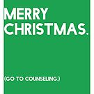 Merry Christmas (GTC) Greeting Card - Green by Robert Vore