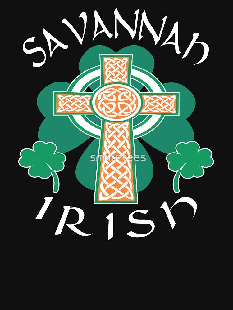 Savannah American Irish Pride Celtic Cross Saint Patrick by smily-tees