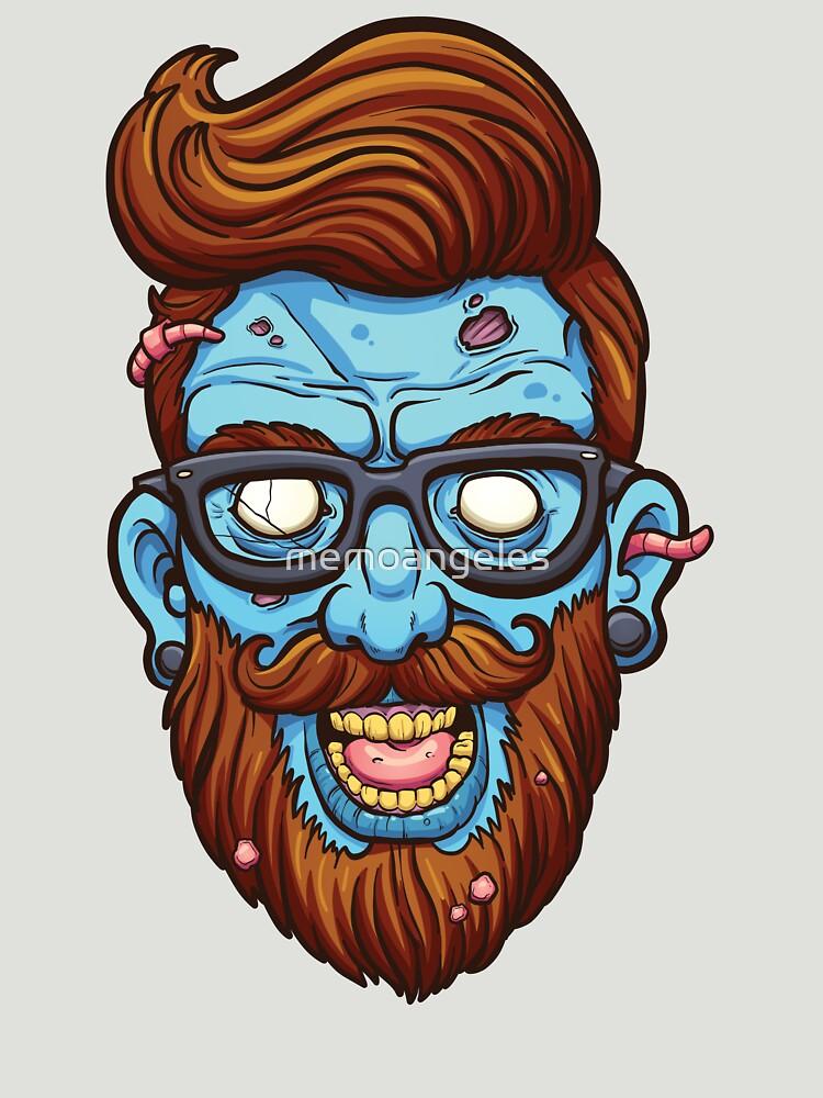 Hipster zombie by memoangeles