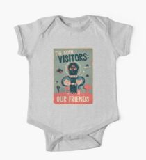 The alien visitors One Piece - Short Sleeve