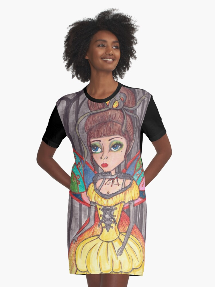 Midnight fairy ball Graphic T-Shirt Dress Front