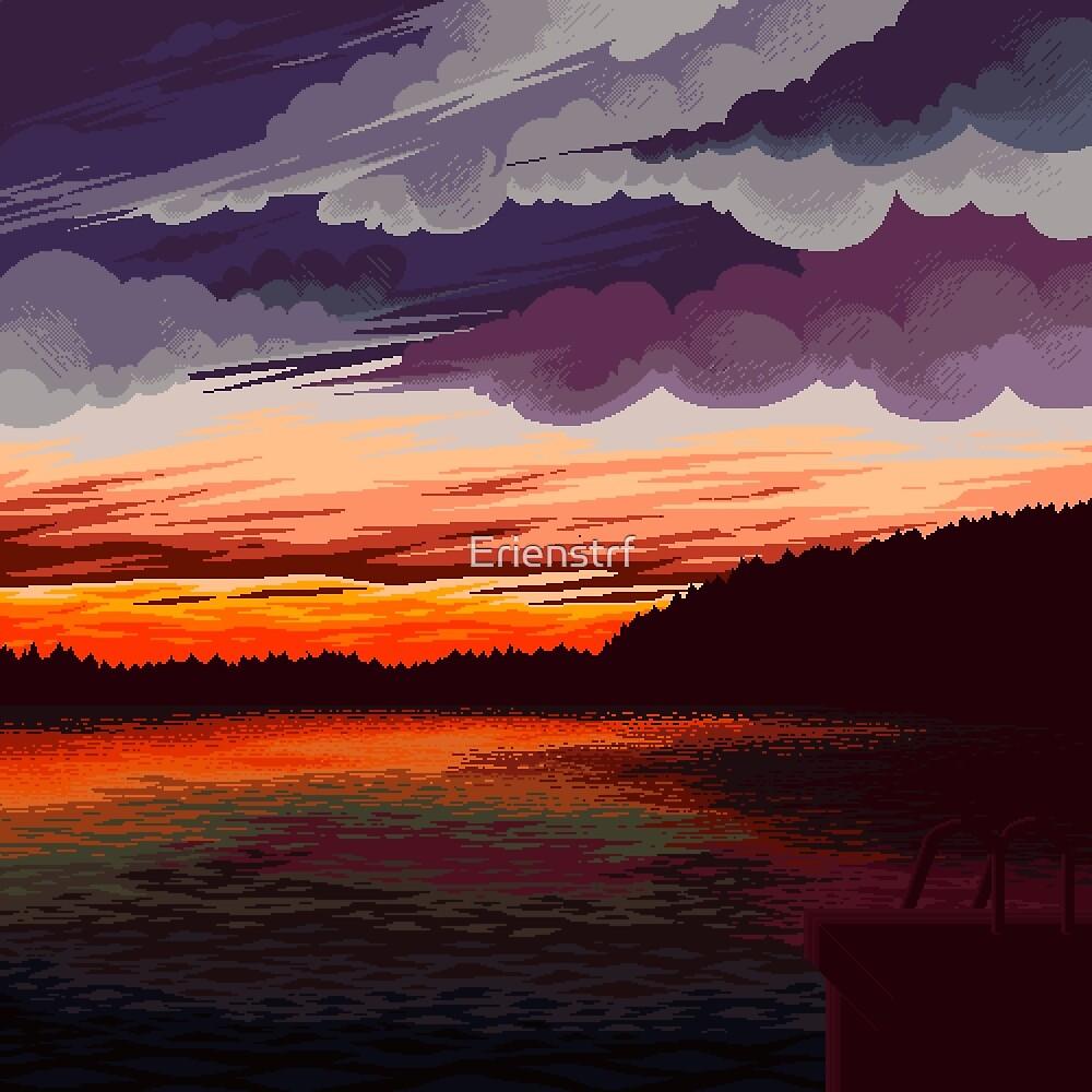 Sunset lake by Erienstrf