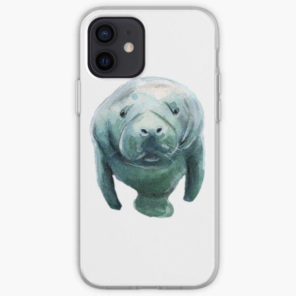 Save The Manatees! Stickers, shirts, phone cases and more! iPhone Soft Case